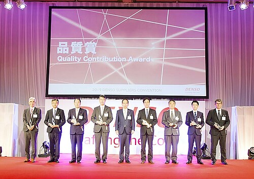 "Official award ceremony ""Quality Contribution Award"" from Denso"